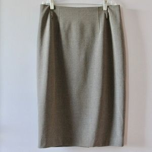 Looks Like Wool Pencil Skirt Excellent Condition